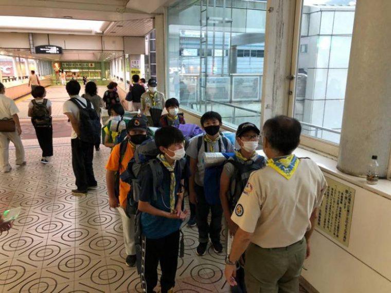 生駒駅を出発
